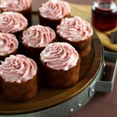Pomegranate Chocolate Swirl Cupcakes