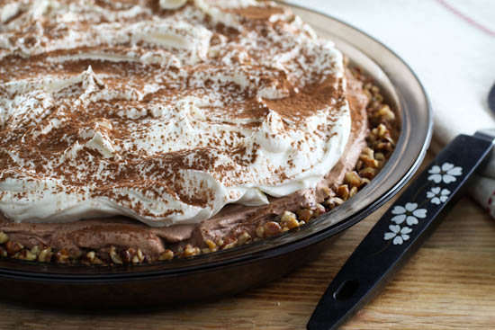 No-Bake Mocha Cheesecake Pie